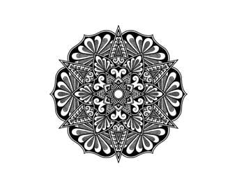 A6 Mandala Greeting Card