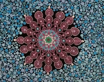 Mandala Flower Dot Art