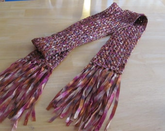Ribbon Crochet Neck Scarf
