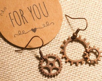 Gears earrings