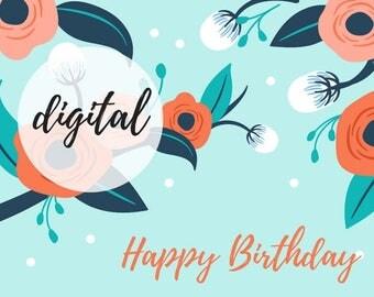cute floral birthday card
