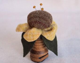 Felted Wool Bobbin Pin Cushion (More Colors)