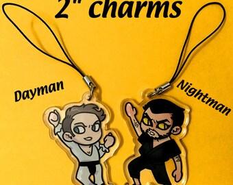 Dayman and Nightman Acrylic Charms