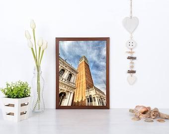 St Mark's Campanile, Venice, Venice Photography, Venice Decor And Art, Travel Poster, Digital Download Print, Venice Wall Art