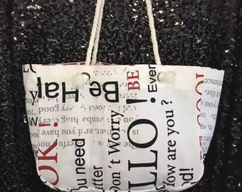 Greeting Tote Bag