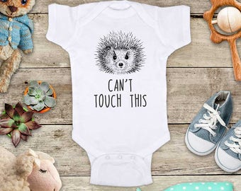 Can't touch this Hedgehog funny Zoo animal Shirt - Baby bodysuit Toddler youth Shirt cute birthday baby shower gift