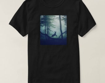 Awesome deer in the woods design