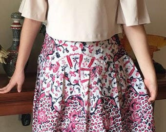 Hand Drawn Batik Skirt