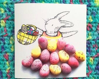 Easter card, Easter bunny cards, Easter cards, rabbit card, bunny card, rabbit cards, hand drawn rabbit, Easter rabbit, drawing of a rabbit