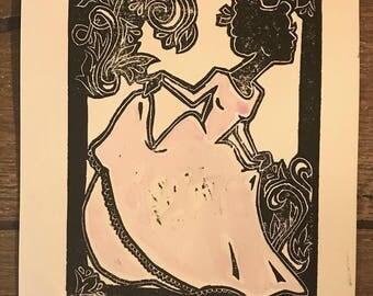 Princess Lino Print