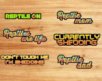 """Reptile Sticker Package """"Series 1"""""""