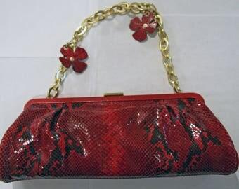 Red VINTAGE ADRIENNE VITTADINI Handbag in snakeskin