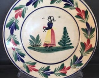 Henriot Quimper Miniature Plate-Woman