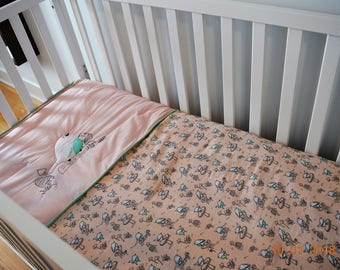 """The little woodland bird"" comforter"