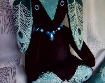 Peacock decor rabbit