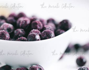 Frozen Blueberries Stock Photo/ Images for health, wellness & fitness Bloggers, Coaches and Entrepreneurs