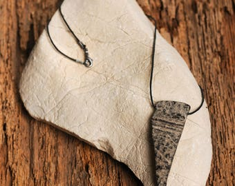 Unique necklace made of a coconut