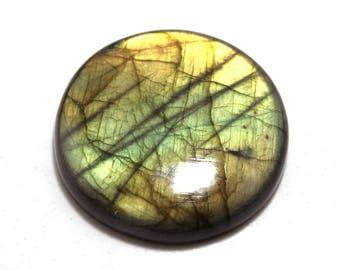 278.40cts Natural Multi flash Labradorite Round 55x55x10  Labradorite loose gemstone amazing & beautifull Labradorite nice flash AA-10