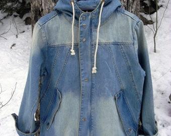 JACLOT Denim Hoodie Jacket