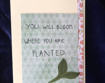 Bloom Where Planted Card