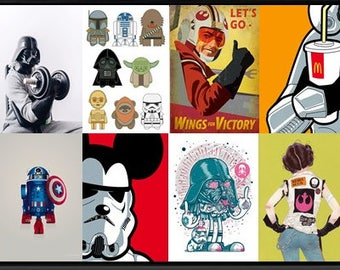 STAR WARS painting pop art home décor, unique, collection