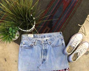 Levi Flannel Skirt