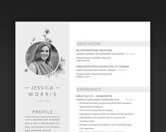 Modern Resume Template / CV Template  | Minimalistl and Creative Resume |