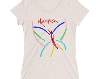Butterfly Mariposa Art Teens Girls Ladies' short sleeve t-shirt