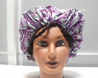 All size fit, durable and colorful showercap - purple
