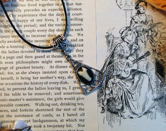 Real Animal Tooth Cameo Necklace - Animal Bone Jewelry