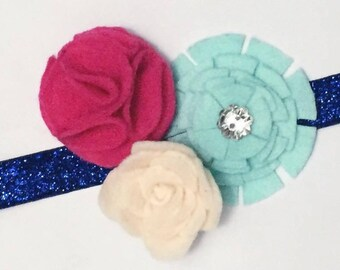 Mixed Flowers Headbands