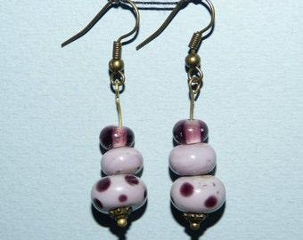 EARRING purple MURANO glass