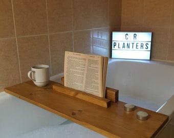 Bath Caddy, Bath Tray, Bath Shelf, Wooden Bath Caddy, Spa, Pamper, Gift, iPad Bath Caddy