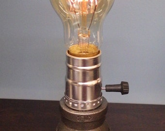 Gas pipe lamp etsy for Gas pipe desk lamp
