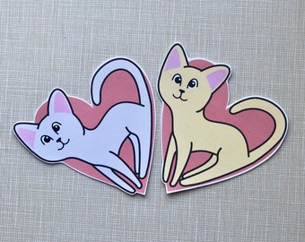 Heart Kitty Cat Sticker