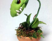 Original Monster Snapper Haunted Plant doll a Witch's Pet by Amber Matthies