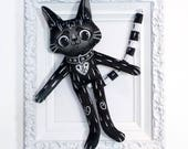 RESERVED LISTING - Black Cat BFF - a soft kitty doll to be best freinds with