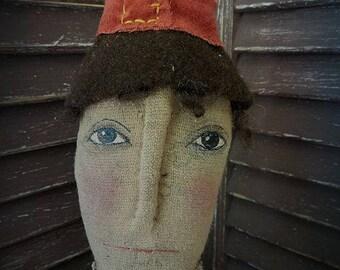 MUSTARD SEED ORIGINALS, Thanksgiving, Fall, Pilgrim, Boy, Man, Turkey, Cloth Doll by Sharon Stevens