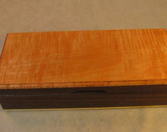 Toasted Ash and Dyed Figured Maple Jewelry Box - LB 124