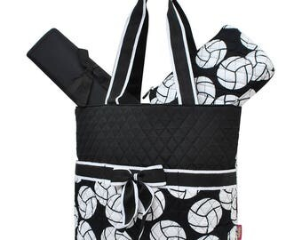 Sports diaper bag etsy volleyball quilted diaper bag personalized diaper bag monogram diaper bag baby shower gift negle Image collections