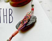 Stackable Braclelets, Friendship Bracelet, Colorful Macrame Hemp Bracelet,  Hand Knotted Bracelet