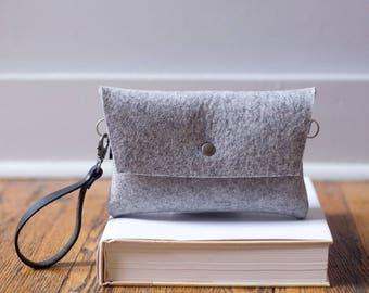 Tiny Clutch in Gray