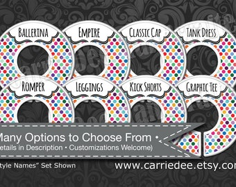 Dot Dot Smile Rack Dividers - Styles Dividers & Size Dividers Available - Fashion Consultant, Simply Dots Design, DotDotSmile dds