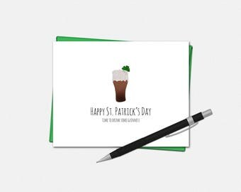 St Patricks Day Cards - Time To Drink Some Guinness - Funny St Patricks Day Card - St Patricks Day Greeting Cards