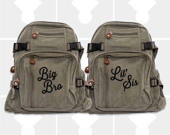 Boys Backpack, Big Brother, Little Sister, Kids Backpack, Diaper Bag Backpack, Backpacks, Small Backpack, School Backpack, Big Brother Gift