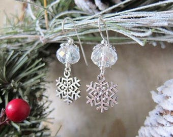 The First Snowflakes Earrings 2017 - Crystal Variant