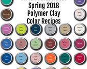 FIMO Pro brand Polymer Clay Color Recipe Ebook for Spring Summer 2018