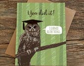 funny graduation card / wise owl / all the things