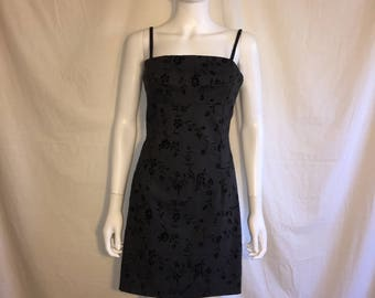 90s Grunge Floral Short Dress gray/black
