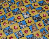 Novelty print fabric Mary Engelbreit puppies dogs by the half yard checker board Scottie Dog quilting fabric ME Ink VIP Cranston dog lovers